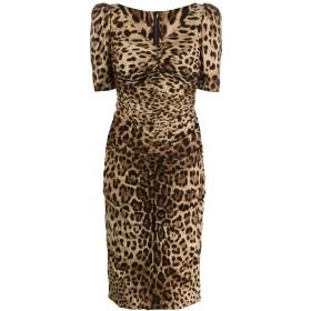 Dolce & Gabbana レオパード ドレス - ブラウン