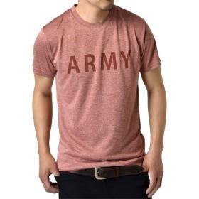 (アルージェ) ARUGE 感動ドライ 吸汗速乾 接触冷感 UVカット UPF50+ 半袖 Tシャツ 脇汗対策 ラッシュガード 水陸両用 メンズ/B4M/LL 15ワイン杢