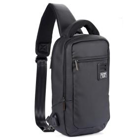 ボディバッグ メンズ 帆布 ショルダーバッグ 大容量USBポート付き 軽量 3way 斜めがけ PABIN
