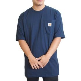 (カーハート) Carhartt Tシャツ ポケットTシャツ WORKWEAR POCKET TEE [K87] L NAVY [並行輸入品]