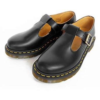 [ドクターマーチン] レディース POLLEY ポリー Tバー シューズ レザー 本革 Tストラップベルト POLLEY 14852001 BLACK SMOOTH ブラック (UK表示4) 23cm ブラック/BLACK