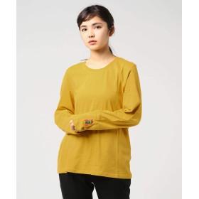 (チチカカ) TITICACA カラベラサイクル刺繍ロング Tシャツ M マスタード