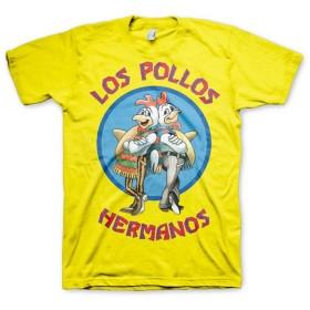 Breaking Bad T Shirt Los Pollos Hermanos 新しい 公式 メンズ イエロー