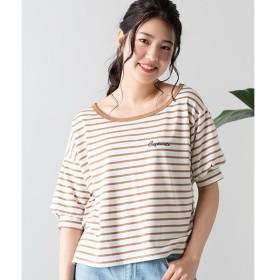 [マルイ]【セール】ボーダーロゴ刺繍ワンショルダーTシャツ/ウィゴー(レディース)(WEGO)