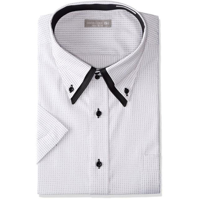 [ドレスコード101] 半袖ワイシャツ (ボタンダウン 形態安定) ワイシャツ メンズ ビジネス SHIRT-ZA ZA016B ホワイト(小柄) 3L