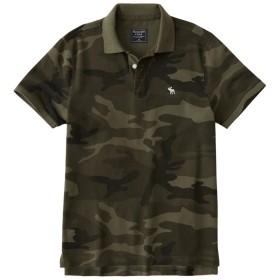 (アバクロンビー & フィッチ) Abercrombie & Fitch ポロシャツ Camo Icon Polo Olive Green Camo 迷彩柄 [並行輸入品]