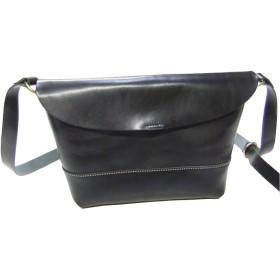 日本製 旅行や通勤通学にも便利 栃木レザー使用 オールレザーショルダーバッグ (ブラック)