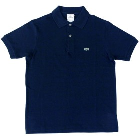 LACOSTE ラコステ L1812 BOYS S/S Classic Pique Polo ボーイズ クラシック ピケ(鹿の子)ポロシャツ 男女兼用(14/#166 MARINE)
