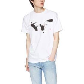 [エドウィン] Tシャツ 【EDWIN 】 毛筆W PRINT H/S TEE メンズ ホワイト 日本 M (日本サイズM相当)