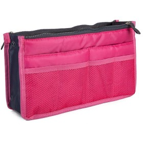 バッグインバッグ BAG IN BAG トートバック 収納たっぷり 全12色 バックインバック トートバッグ 収納 化粧ポーチ 男女兼用 散歩バッグ海外旅行グッズ トラベルグッズ (ピンク)