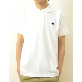 (ジーンズバグ)JEANSBUG OP ポロシャツ Pig オリジナル ロゴ ワンポイント 刺繍 半袖 ポロシャツ メンズ レディース 大きいサイズ OPPL-PIG XXL シロ(1)
