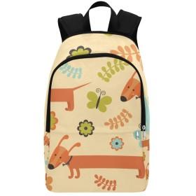 JKDLER バックパック かわいい犬や美しい蝶 大容量 軽量 撥水加工 防水 ビジネスリュック メンズ 男女兼用 通勤 通学 出張 旅行 ラップトップ Pcバッグ アウトドア