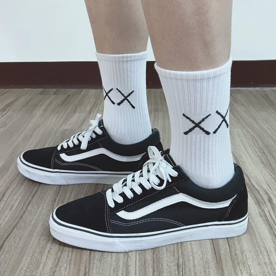 【K-2】XX 差差 潮流 中筒襪 高筒襪 長襪 穿搭 搭配 滑板 襪子 長襪 男女不拘 均碼【K045】