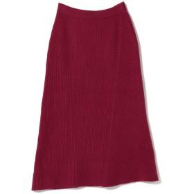 (ビームスライツ)BEAMS LIGHTS/スカート / 片畦7G 変形編み ニットスカート レディース WINE ONE SIZE