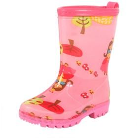 [Cloudkids] 子供用 レインブーツ 雨靴 長靴 キッズ レインシューズ 女の子 男の子 ジュニア スニーカー 小学生 幼児 可愛い 滑り止め 雪 水遊び ピンク 17.3cm