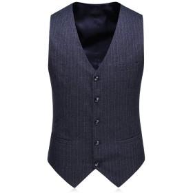 CEEN メンズ スーツ スリーピース ストライプ 上下セット 2つボタン ビジネス フォーマル キレイ目 スタイリッシュ 紳士服 結婚式 二次会 大きいサイズ ジャケット ベスト パンツ