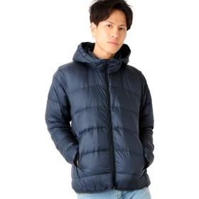 ネイビー M (ベストマート)BestMart あったか 軽量 吸水速乾 機能性 バリアー ダウン ジャケット メンズ アウター ボリュームネック 624449-005-601