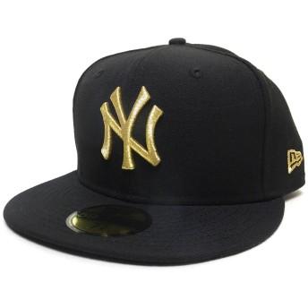(ニューエラ) New Era キャップ ベースボールキャップ NY ヤンキース 黒/金 11308572 ブラック/ゴールド 7-1/2(59.6cm) 59FIFTY MLB New York Yankees
