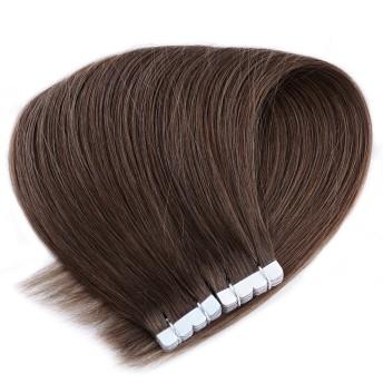 Neitsi(ネイティス) シールエクステ 人毛 エクステ ウィッグ テープエクステ エクステンション ストレートロング グラデーションウィッグ レミーヘア 髪の毛 16インチ10枚 (8)