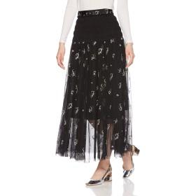 [スナイデル] チュールエンブロイダリーロングスカート SWFS184146 レディース BLK 日本 0 (日本サイズ7 号相当)