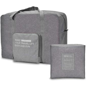 Kayalu 折りたたみ ボストンバッグ 旅行バッグ トラベルバッグ 軽量 防水 キャリーオンバッグ 大容量 旅行 出張 整理用 スーツケースの持ち手に通せる メンズ レディース 002GY