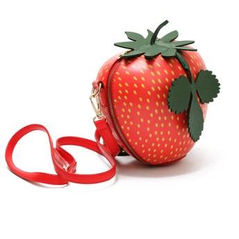 Spinas(スピナス)レディース ショルダーバッグ コロンと 可愛い フルーツ バッグ 全4種( 赤りんご 青りんご いちご スイカ )