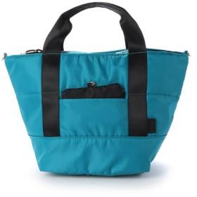 クーコ COOCO リール パスケース付 トート バッグ 多機能 トラベル ママバッグ (ブルーグリーン)