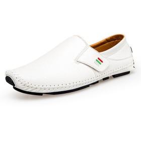 ドライビングシューズ メンズ 黒/ブルー/白 24.0-27.5cmまで 紳士靴 スリッポン ローファー 冬 落ち着いた感じ 便利 滑り止め 歩きやすい イギリス風 通勤 普段履き白 26.0CM