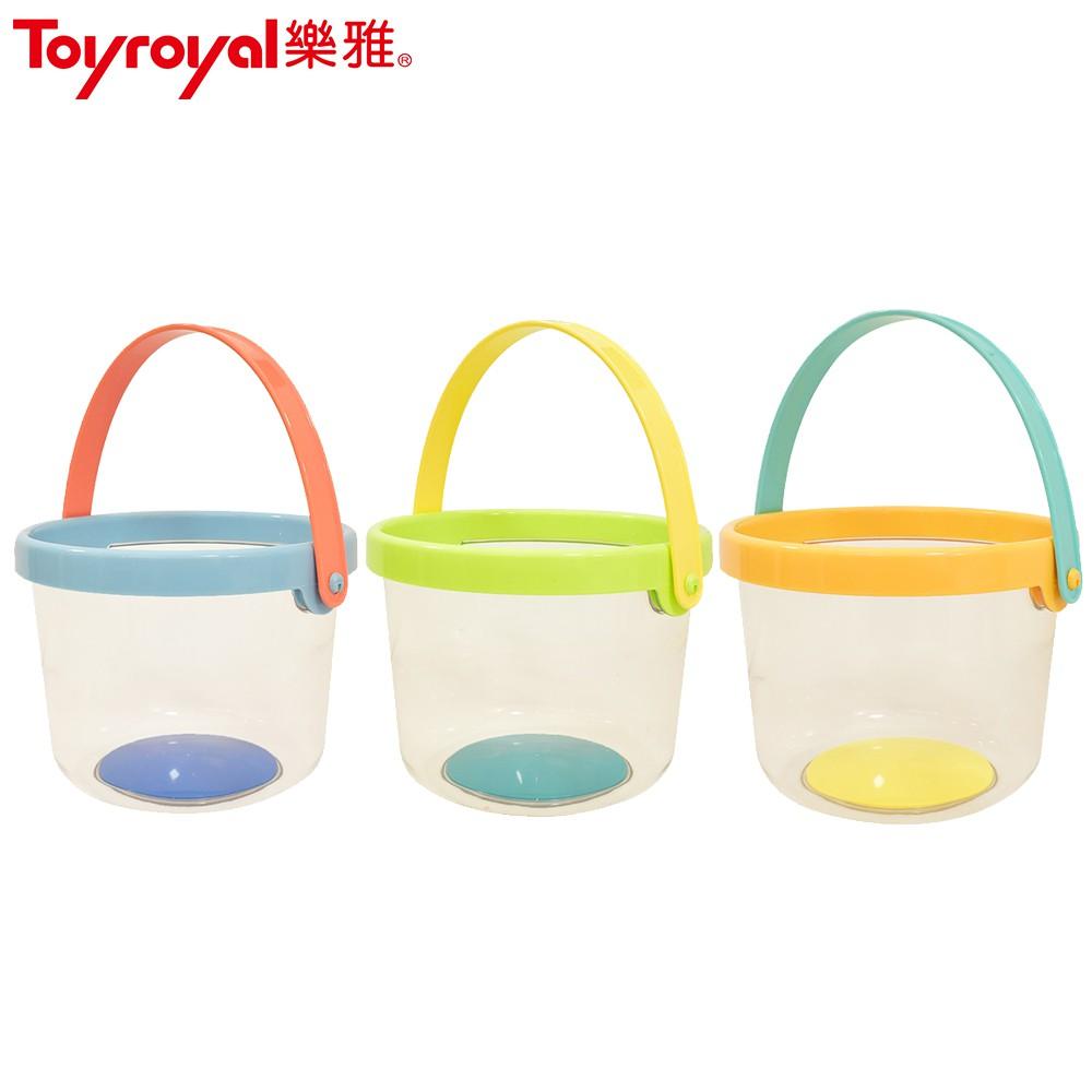 日本《樂雅 Toyroyal》繽紛系列-透明水桶