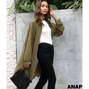 【セール開催中】ANAP(アナップ)シフォンロングシャツ