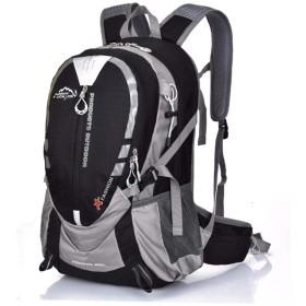 Caldo 登山バッグ リュック 大容量 リュックサック25L 防災 リュック アウトドア バックパック 登山リュック 収納性抜群 旅行 登山用リュック (ブラック)