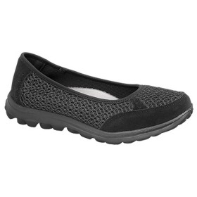 [Boulevard] (ブールバール) レディース スリッポン メモリーフォーム素材シューズ 婦人靴 カジュアルシューズ 女性用 (3 UK) (ブラック)
