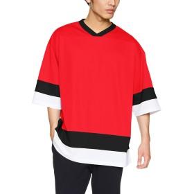 [ユナイテッド アスレ] 4.1oz ドライ ホッケーTシャツ メンズ 593501 レッド/ブラック/ホワイト 日本 XL (日本サイズXL相当)