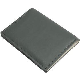 [フロックス] 定期入れ パスケース カードケース カード入れ 定期券入れ 本革 革 薄い 二つ折り ic 2枚 ブランド 人気 メンズ レディース (グリーン)