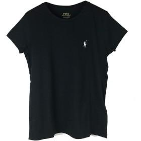 (ポロ ラルフローレン) POLO RALPH LAUREN ポニーワンポイント刺繍 コットン ソリッド クルーネック Tシャツ (XS, BLACK/WHITE) [並行輸入品]