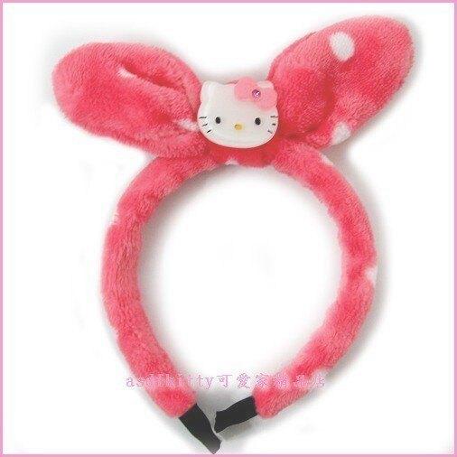 asdfkitty可愛家☆KITTY點點絨毛兒童髮圈/髮箍-韓國正版商品