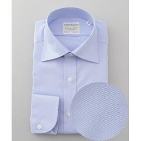【オンワード】 gotairiku(ゴタイリク) 【形態安定】PREMIUMPLEATS ドレスシャツ /ヘリンボーン サックスブルー 16(41-86) メンズ 【送料無料】