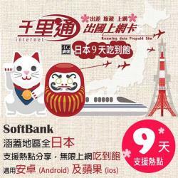 日本上網卡 日本網卡 日本SIM卡 9日無限上網吃到飽不降速