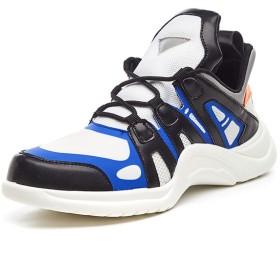 [Exing] レディースシューズ秋MeshSneakers、男性トレンド通気性カジュアルシューズ、恋人目に見えない増靴、レースアップ運動靴 (色 : A, サイズ : 41)