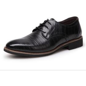 Kayaku秋冬 メンズ 防滑防寒 ビジネスシューズ 軽量本革 革靴 紳士靴  フォーマル 男性用 (43, ブラック)