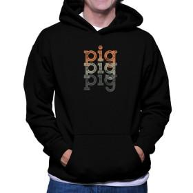 Pig repeat retro フーディー