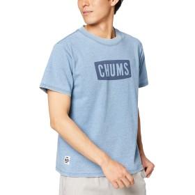 [チャムス] Tシャツ CHUMS Logo T-Shirt Indigo Lt.Indigo 日本 S (日本サイズS相当)