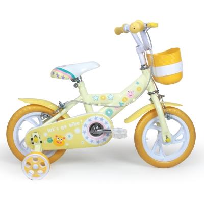 寶貝樂精選 12吋星光腳踏車-黃色