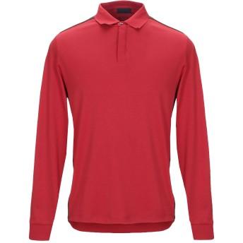 《9/20まで! 限定セール開催中》ARMANI JEANS メンズ ポロシャツ レッド M コットン 100%