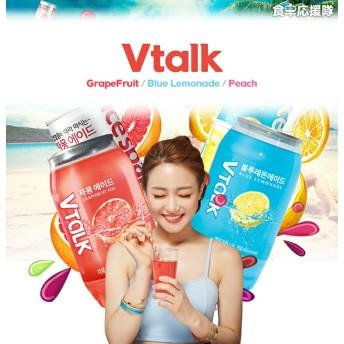 インスタ映え!★透ける缶 VTalk 6本★グレープフルーツエード、ブルーレモンエード、&Talkもも グリーングレープ 選べる350ml×6本セット