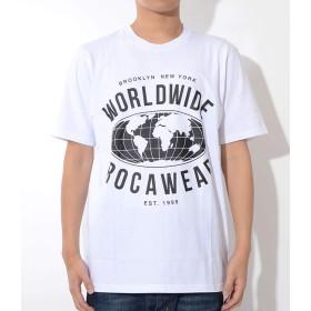 ROCAWEAR ロカウェア Tシャツ 半袖 WORLD WIDE 地球 (RW182T07) 3XL WHITE