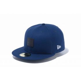 【ニューエラ公式】 59FIFTY キャンバス ナイトブルー ブラックレザーパッチ メンズ レディース 7 1/2 (59.6cm) キャップ 帽子 12109117 NEW ERA