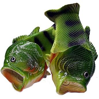 [TaCo] 魚サンダル リアル ギョサン おもしろグッズ サンダルシューズ スリッパ メンズ レディース キッズ グリーン 24
