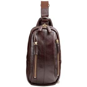 [豊岡鞄] ボディバッグ 豊岡鞄 豊岡鞄 皮革ワンショルダー メンズ ダークブラウン