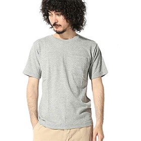 ナノ・ユニバース(nano・universe) :ジャガードサッカーストライプTシャツ L トップグレー nano・universe